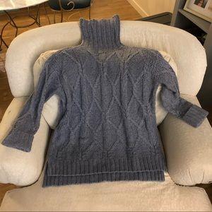 Sweaters - Blue turtleneck sweater